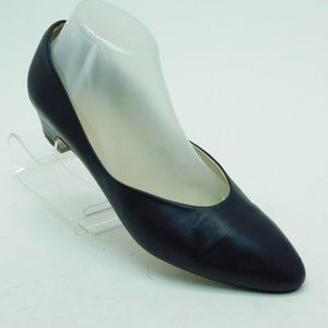Joan David Blue Leather Wedge Pumps Size 10  Italy